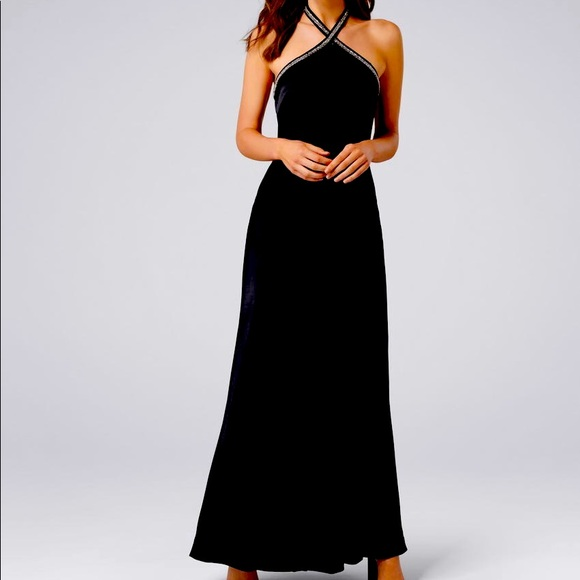 Beaded neck gown